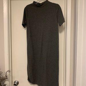 Zara gray high neck dress